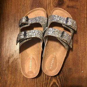 Madden Girl Glittery Slides